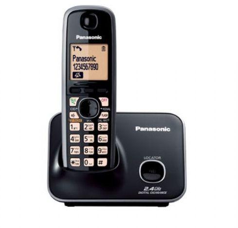Panasonic KX-TG3711 Cordless Phone (Black) Image