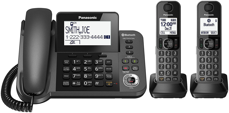 Panasonic KX-TGF382M DECT 2-Handset Landline Telephone Image