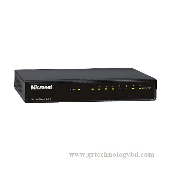 Micronet 8 Port SP6108 100MBPS Gigabit Switch Image