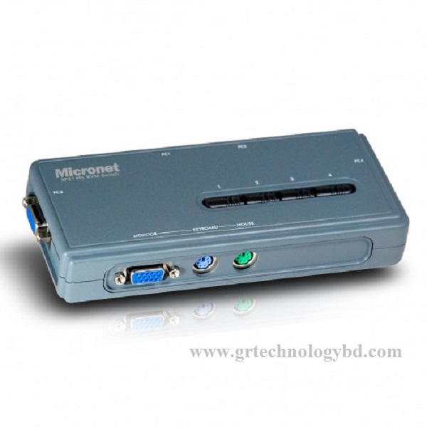 Micronet SP214EL,4 Port KVM Switch Image
